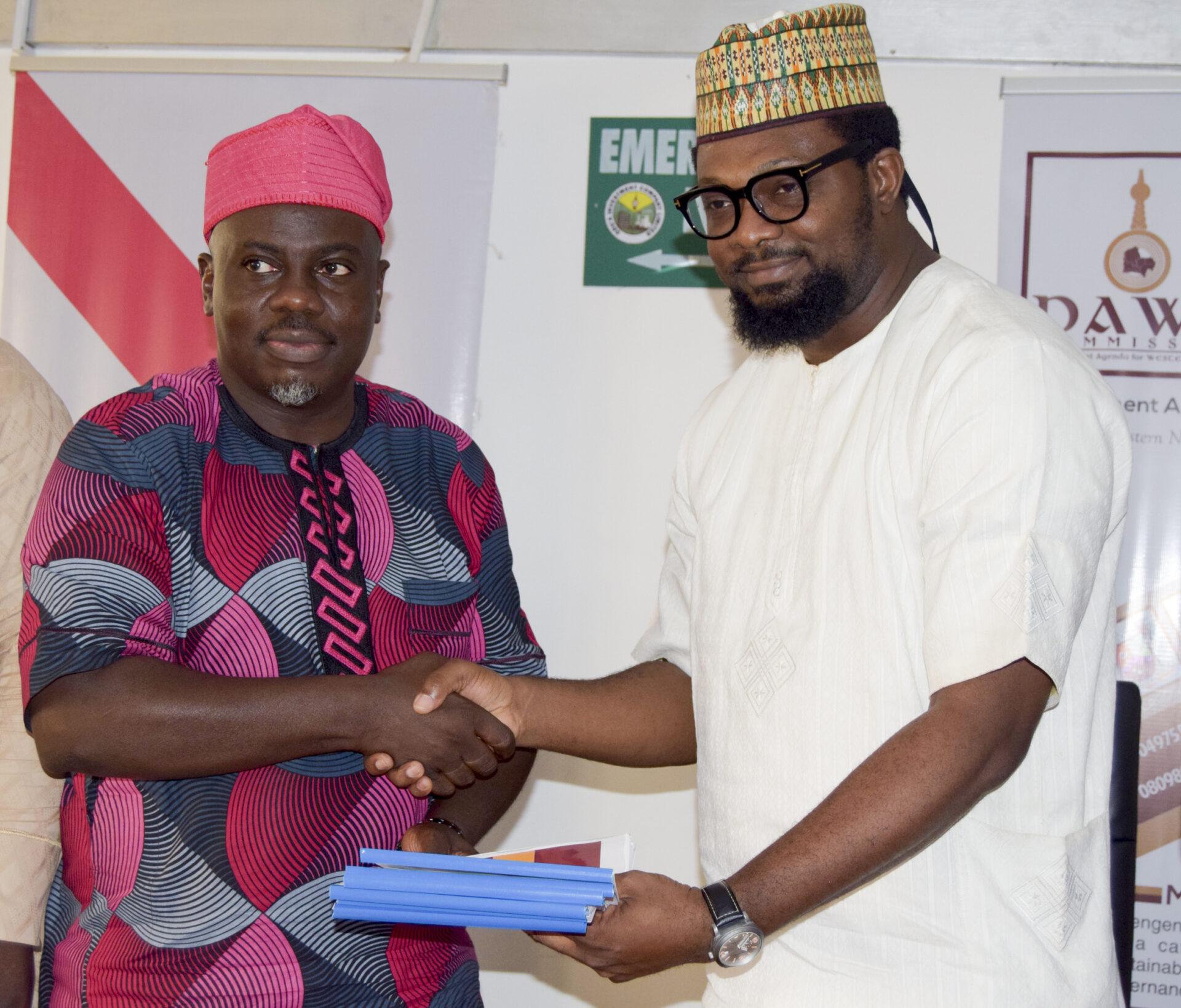 L-R, Seye Oyeleye(Director General, DAWN Commission)Kayode Adebayo(project Director Amfest) (2)