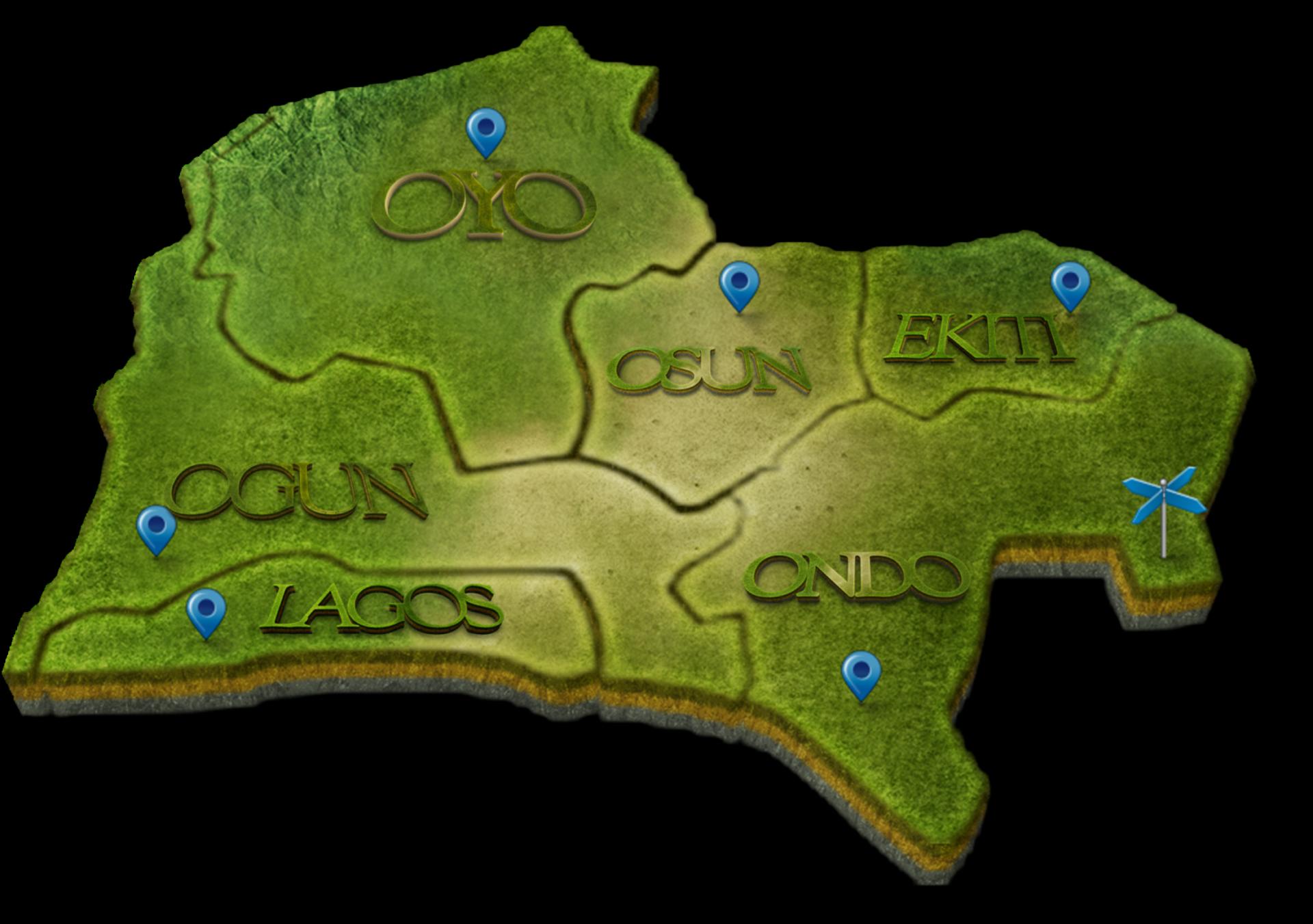 DAWN southwest map