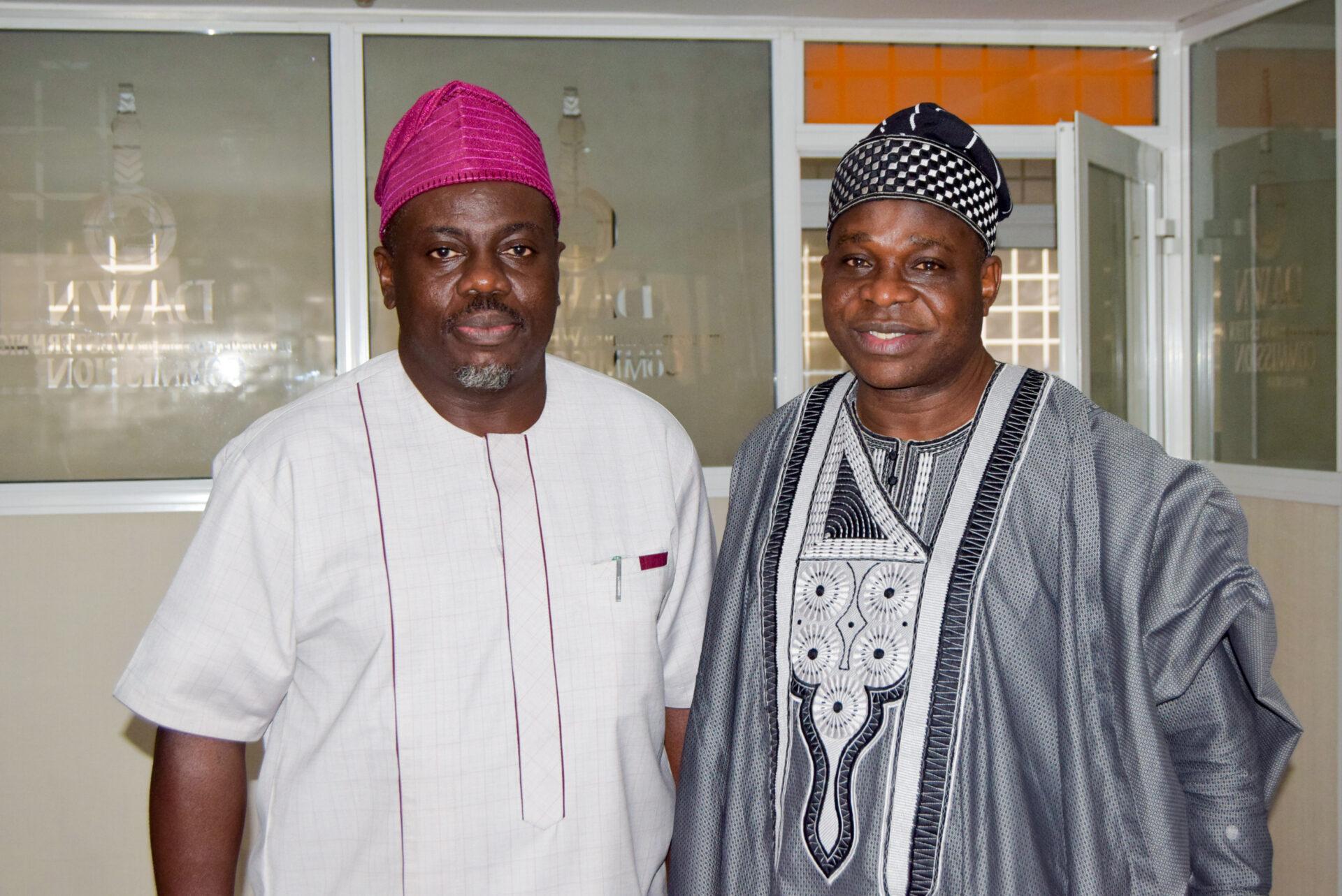 DG Seye Oyeleye, Amb. Oguntuase visits DAWN 4