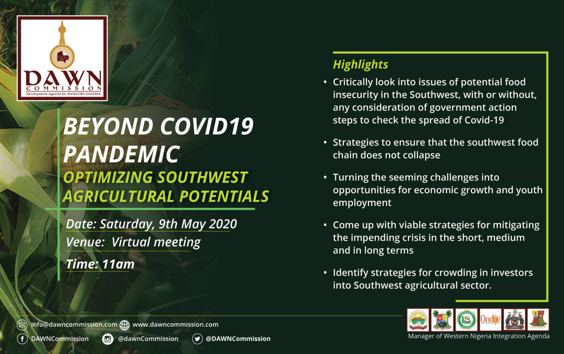 POST-COVID19 PANDEMIC- Optimizing Southwest Agricultural Potential