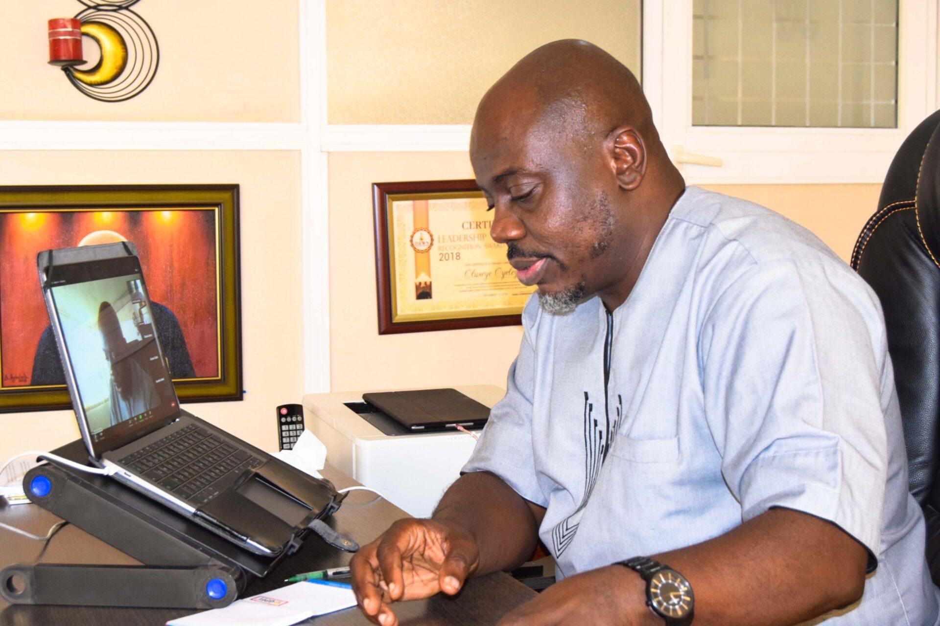 DG Seye Oyeleye (Meeting of Southwest Agric Commissioners and SWACO)